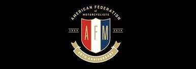 American Federation of Motorcyclists (AFM) Racing logo